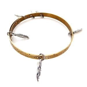 GASOLINE GLAMOUR Jewelry - THUNDERBIRD PONY FEATHER BANGLE new